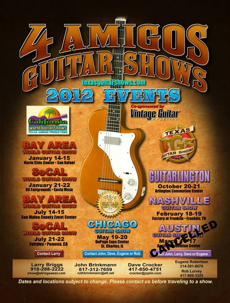 Bay Area World Guitar Show – July 14 and 15